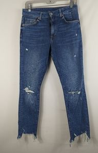 &denim by H&M high waist ankle ripped jeans 29